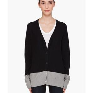 T Alexander Wang Colorblock Oversized Cardigan